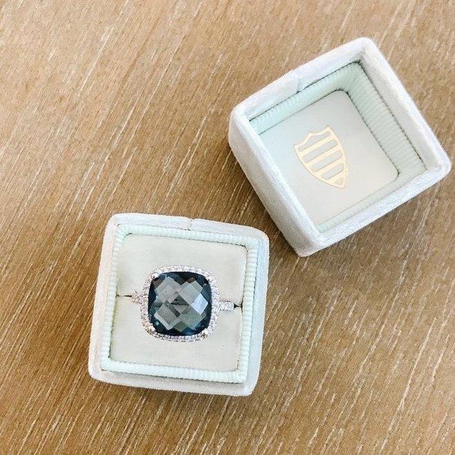 London blue topaz diamond ring