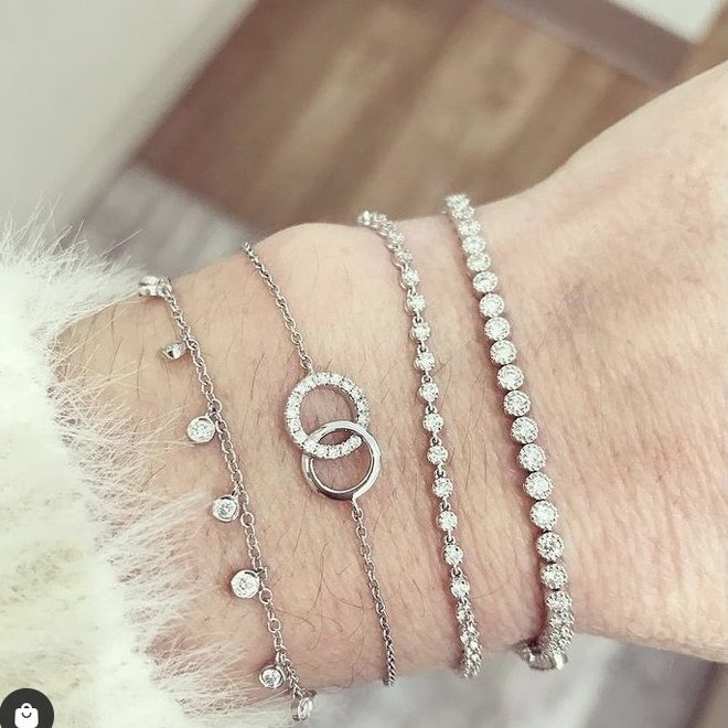 Bezel set diamond tennis bracelet
