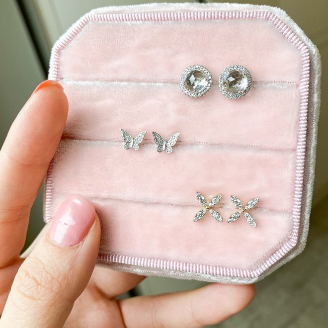 Diamond Florette Earrings