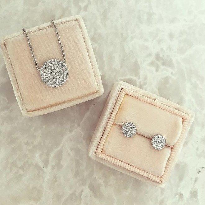 Diamond disc pendant