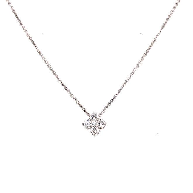 Petite five diamond pendant