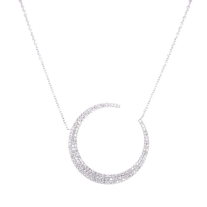 Crescent Moon Diamond Pendant
