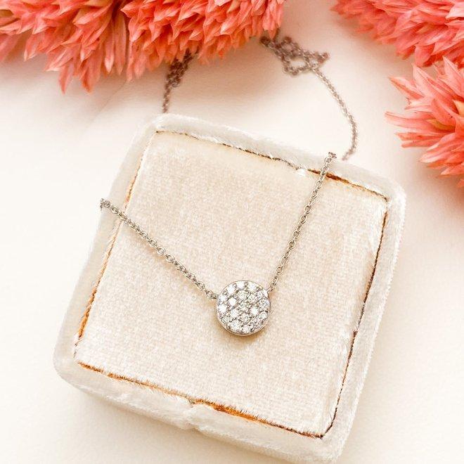 Diamond Cluster Pendant-Round Shape