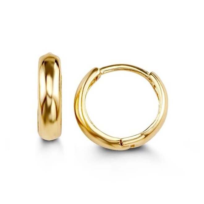 Petite gold hoop earrings - yellow gold