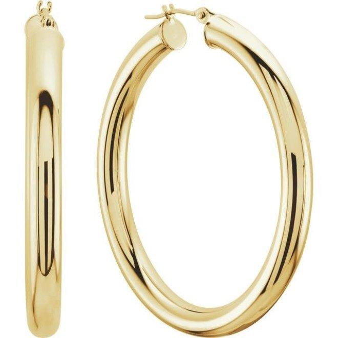 Tube hoop earrings - 25mm