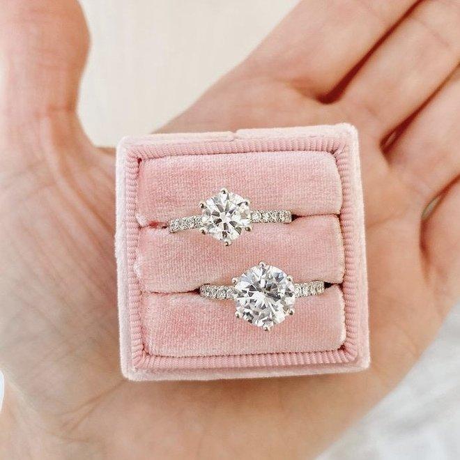 The Mila - custom six claw diamond engagement ring