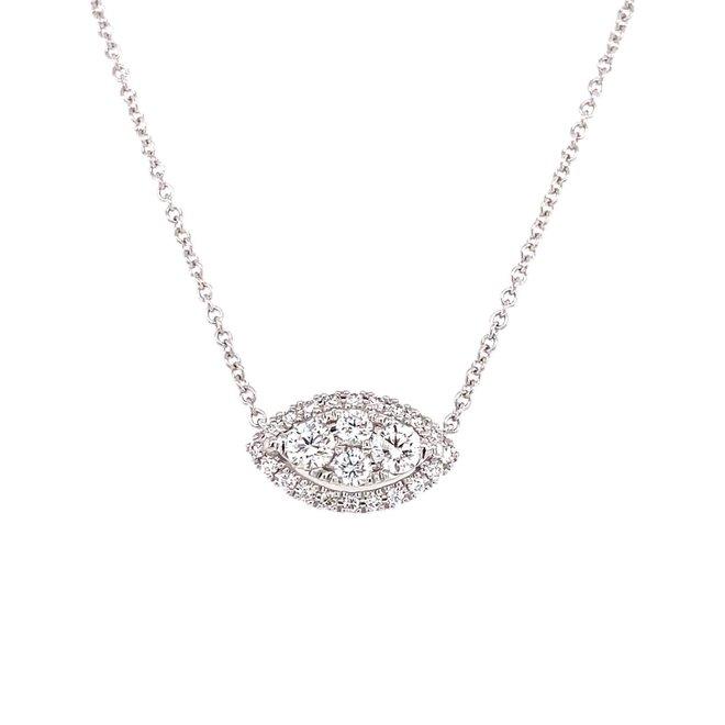 Diamond marquise shaped pendant