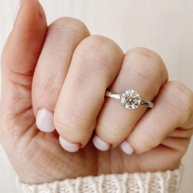 The Margot-bezel set solitaire engagement ring