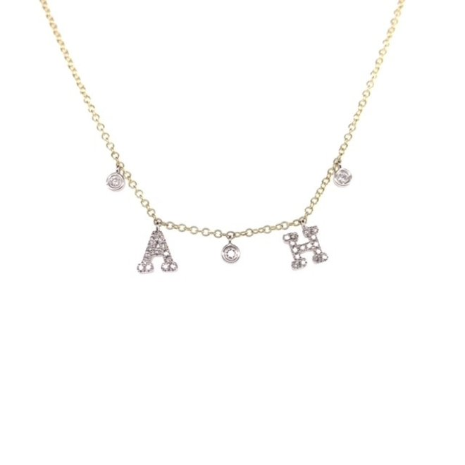 Custom initial necklace with two letters