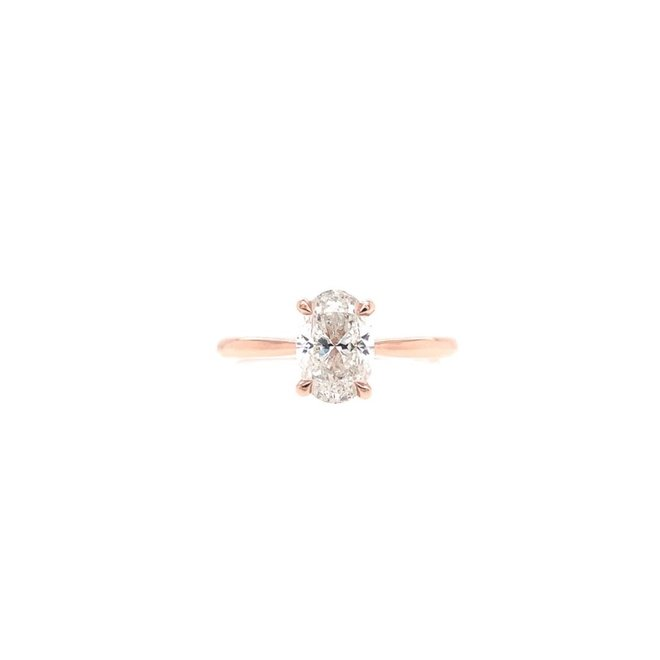 The Hailey - rose gold oval diamond engagement ring