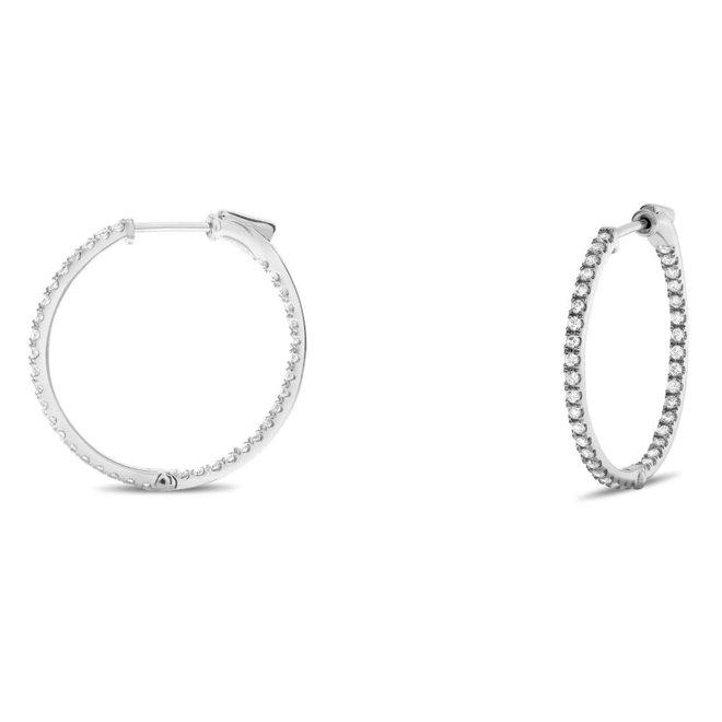 Diamond hoop earrings-0.50ct