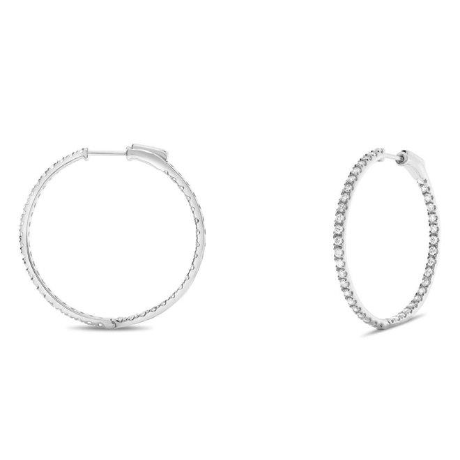 Diamond hoop earrings-1.00ct