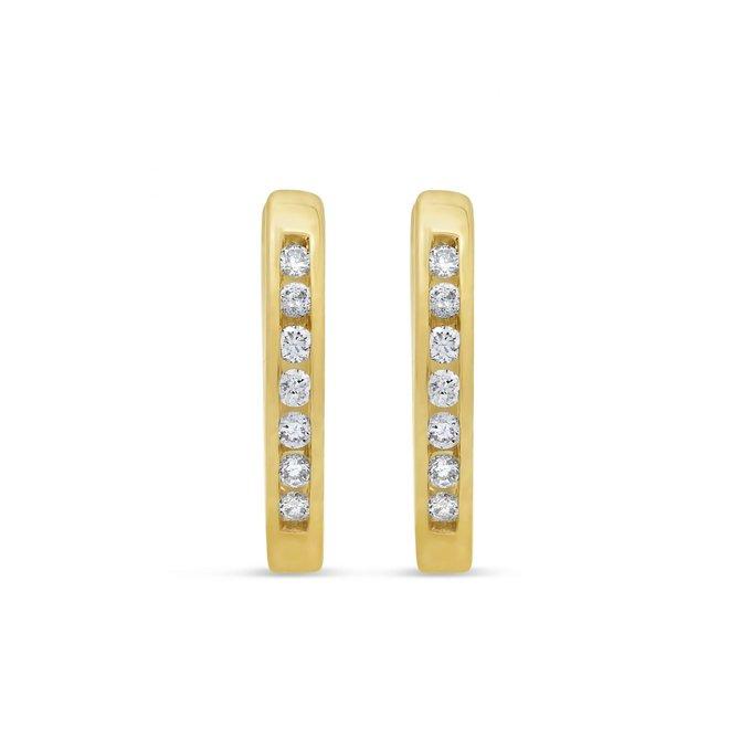 Children's diamond huggie earrings