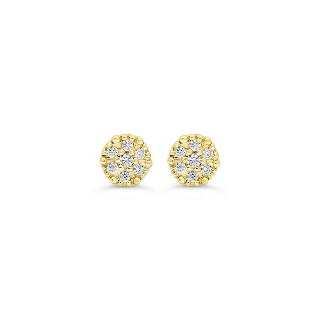 Children's diamond cluster earrings