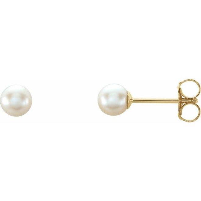Pearl stud earrings 4.5-5mm