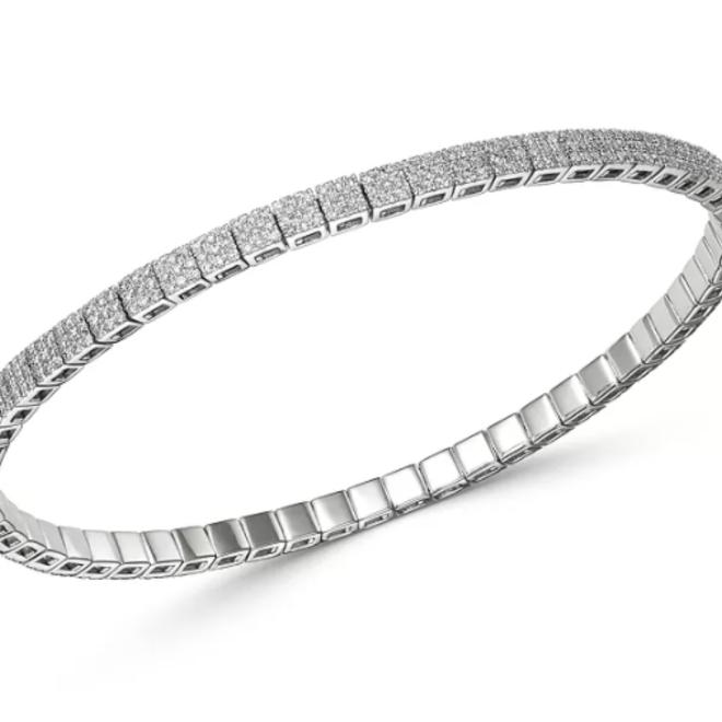 Diamond stretchable bracelet
