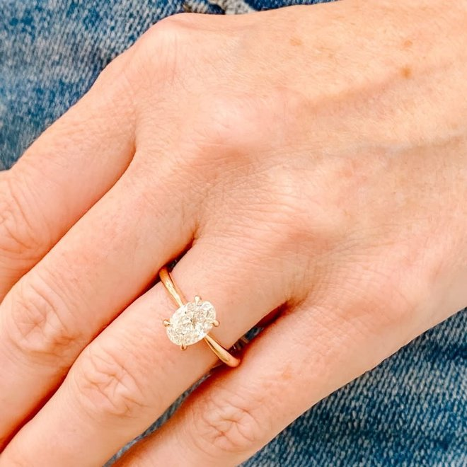 The Hailey - 1.00ct oval diamond solitaire engagement ring