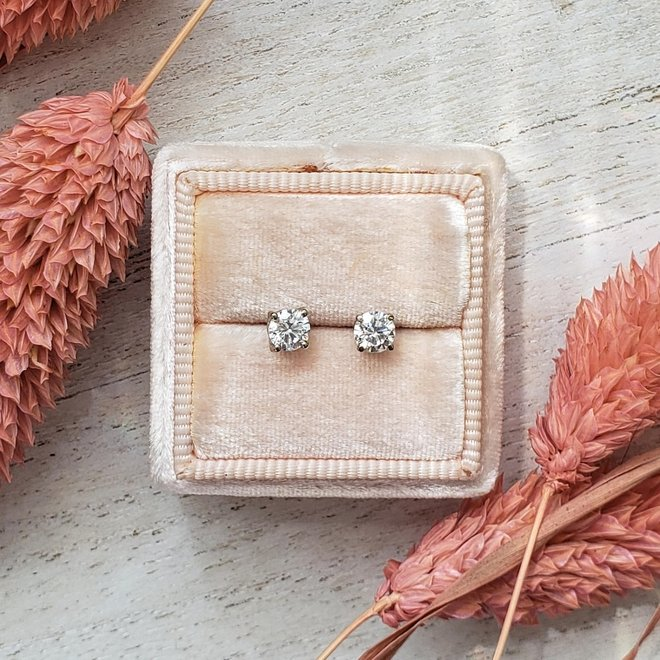 Classic diamond stud earrings - 0.45ct total weight