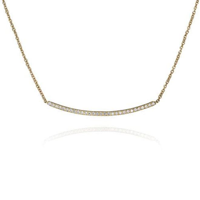 Contemporary diamond bar necklace