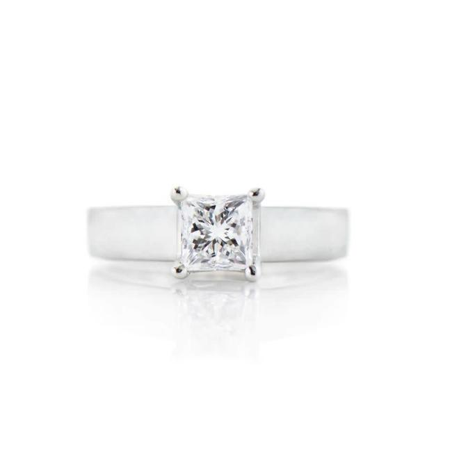 The Paige - custom princess solitaire engagement ring
