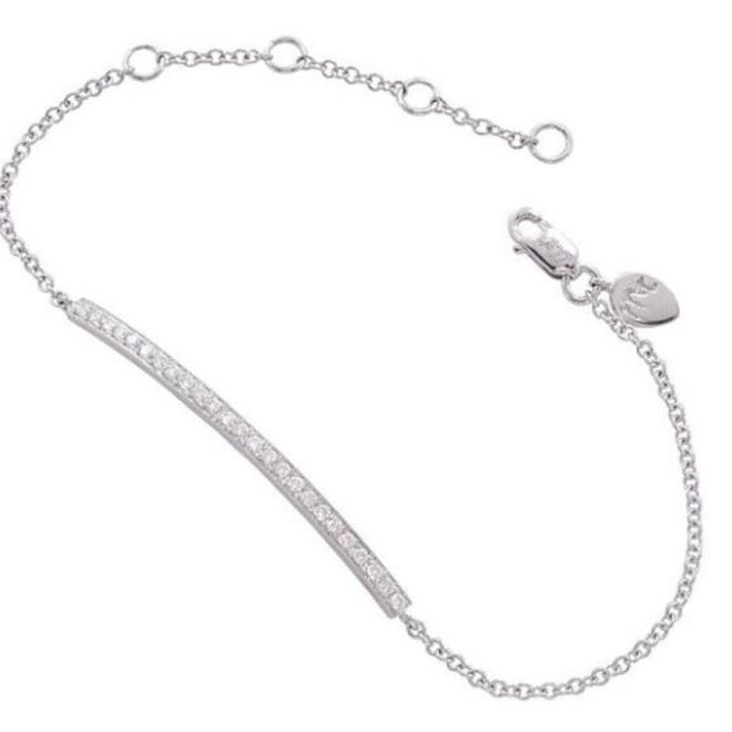 Dainty diamond bar bracelet