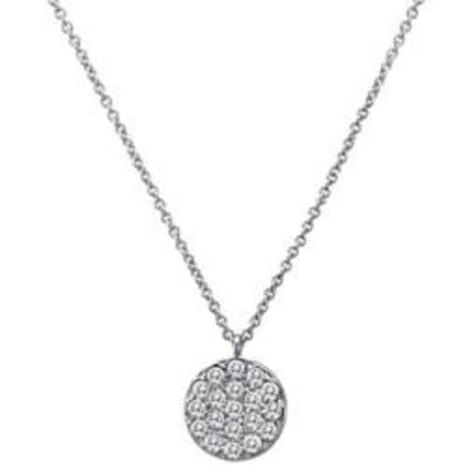 Diamond pave disc pendant