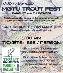 44th Annual MGTU Trout Fest February 20