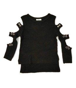 Pinc Premium Sweater W/ Cutouts Black