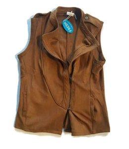 Zipper Vest Mocha