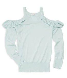 Ella Moss Cold Shoulder Sweater Baby Blue