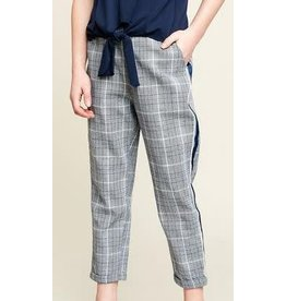 Plaid Trouser W/ Tape Detail Off White/Multi