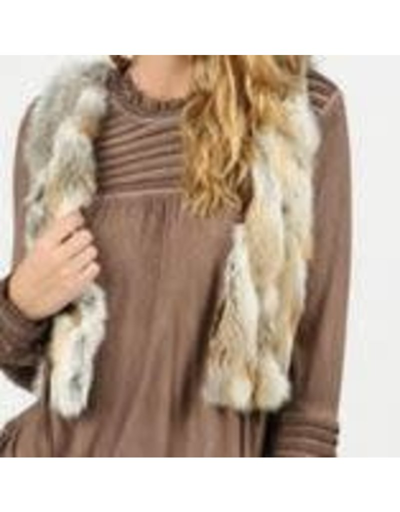 POL Reversible Fur Vest Multi