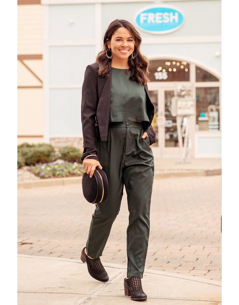 Cutout Trouser Jumpsuit Forest
