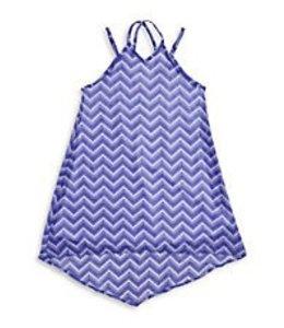 Sally Miller Sally Miller Zig Zag Chiffon Dress Blue/White
