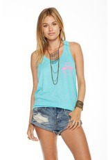 Chaser Flamingo Kiss Tank Teal/Pink