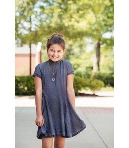 Elisa B Elisa B Texture Knit Dress Grey