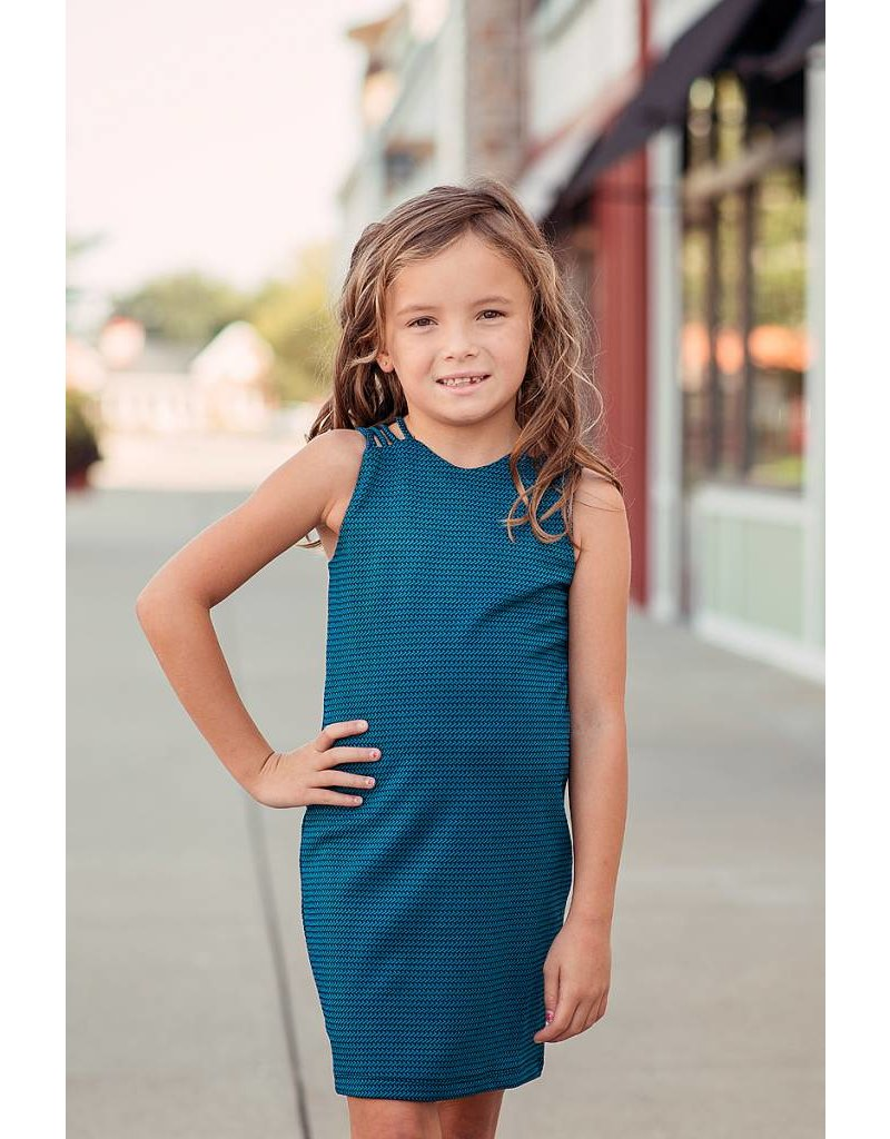 b7a32cd58c17 Louisville Tween Dresses - Elisa B Teal Dress - Fresh Boutique 4 Girls