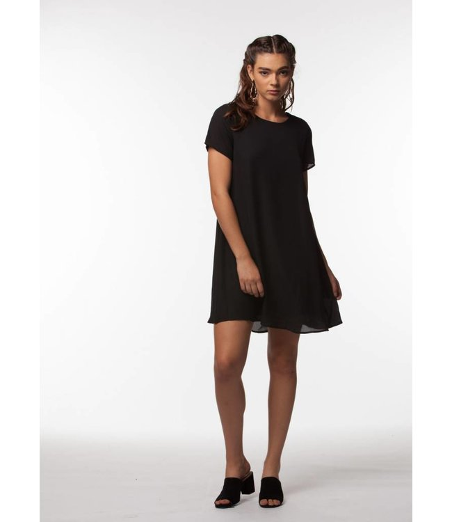 PPLA Brodee Woven Dress Black