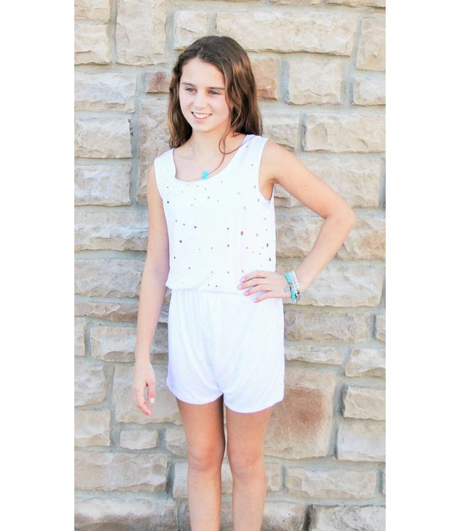Hole Romper White