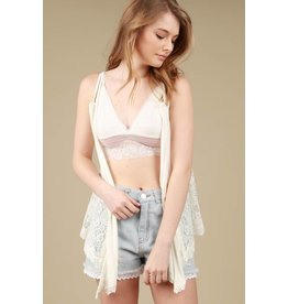 Lace Detailed Vest Ivory
