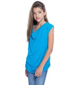 Ruched Top Turquoise