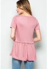 Cupro Shirt W/Ruffle Hem