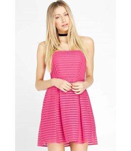 Maitai Strapless Dress Fushia