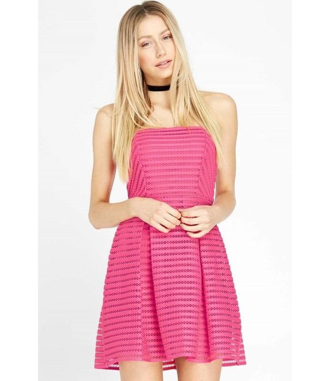 Maitai Strapless Dress Fushia