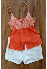 Embroidered Top Orange