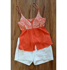 Embroidered Top Orange