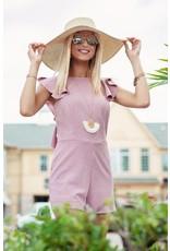 Ruffle Knit Romper Misty Pink
