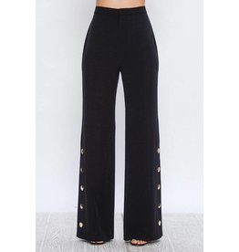 FlyingTomato Palazzo Pants Black