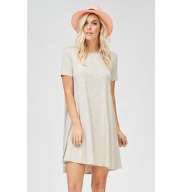 American Chic Oatmeal S/S Dress