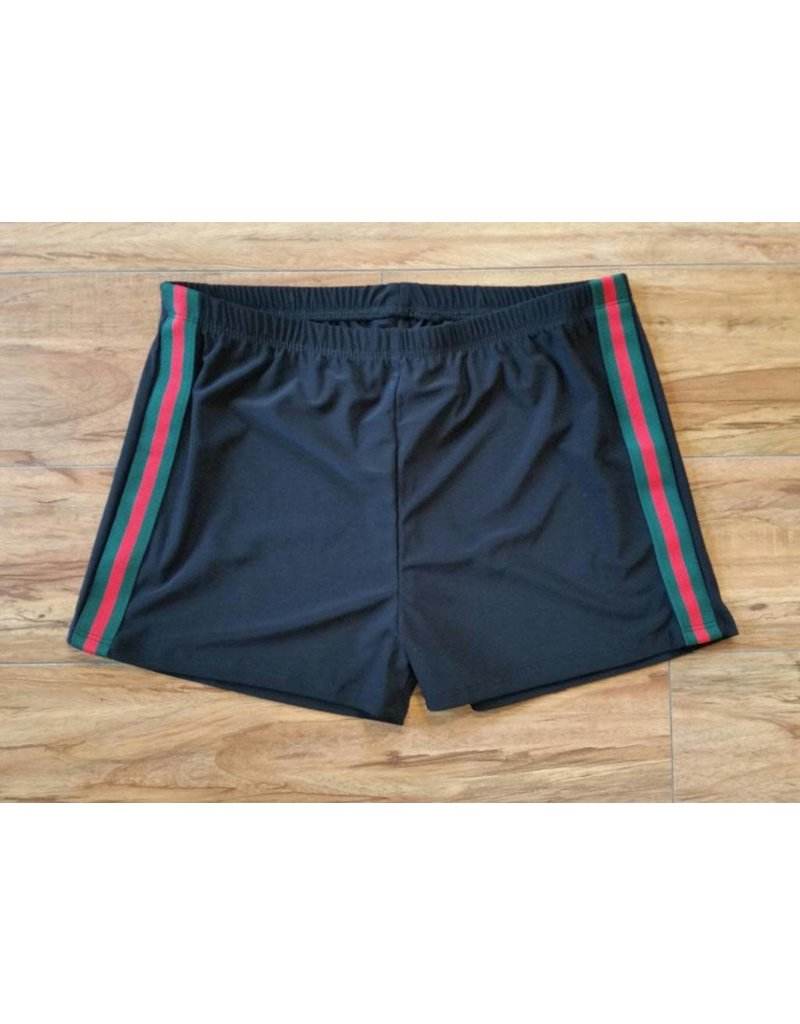 Gucci Inspired Shorts Black/Multi